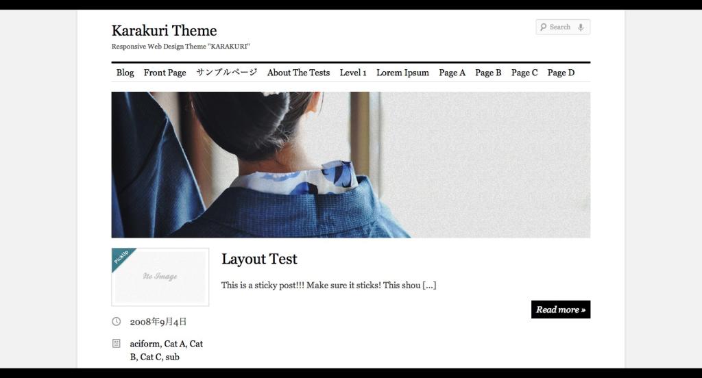 Responsive Web Design Theme ''KARAKURI'' Karakuri Theme
