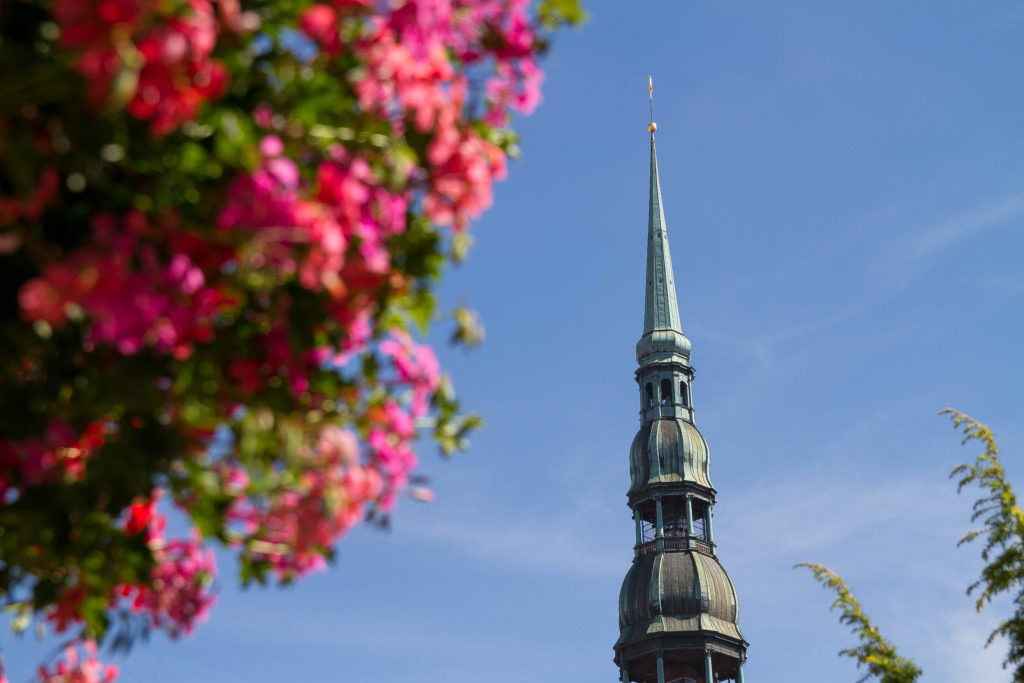 リガ(ラトビア)の聖ペテロ教会