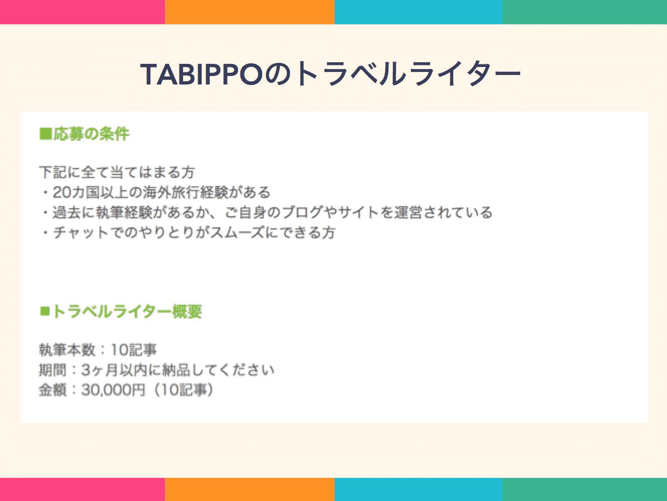 TABIPPOのトラベルライター
