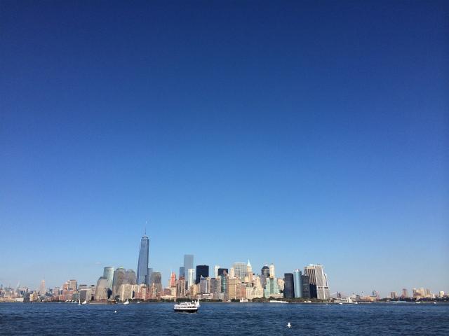 遠景で見るニューヨークの空がすごい