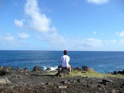 イースター島の背中