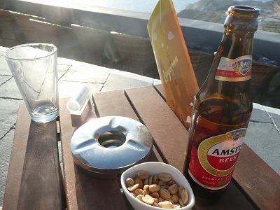 サントリーニで乾杯