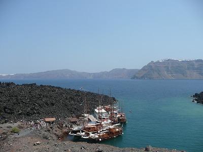 サントリーニ島の火山