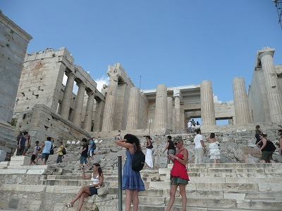 パルテノン神殿目前