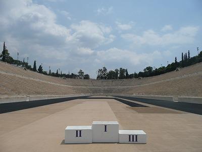 アテネの表彰台