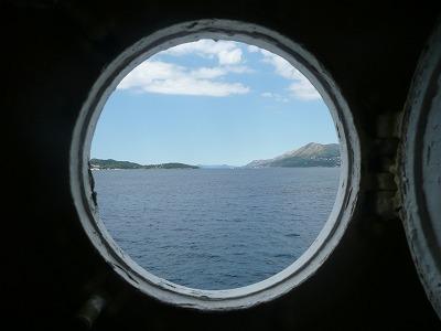 アドリア海を渡る船
