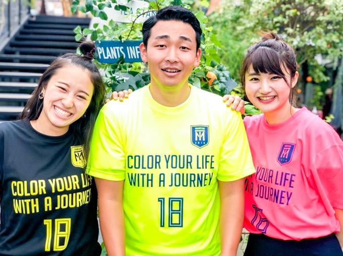 サッカーユニフォームTシャツ「COLOR YOUR LIFE WITH A JOUNREY」