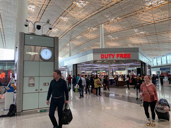 北京空港のロビー