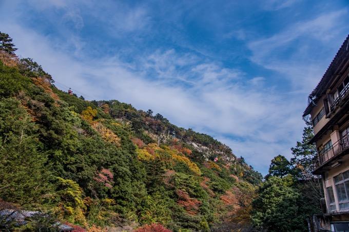 御在所岳を一望できる「湯の山温泉」