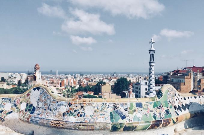 バルセロナのグエル公園(スペイン)