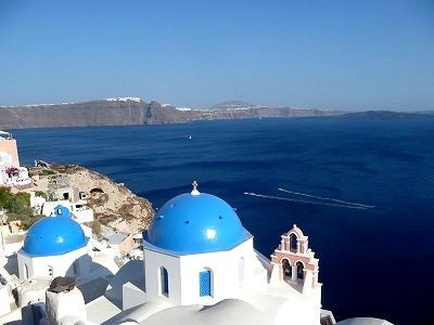 7/17 ギリシャのサントリーニ島で火山&温泉ツアー、そしてイアの街へ