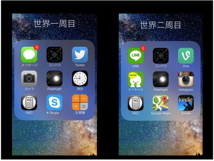2010年と2014年で世界一周に持っていくアプリはこんなに違う